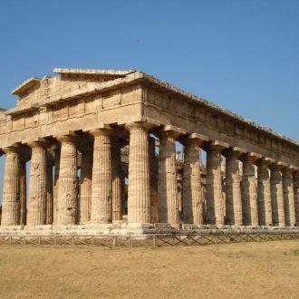 restauro eseguito sul tempio di Nettuno a Paestum con malte da restauro LEDAN